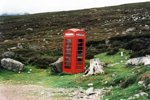 A Highlands phone box.