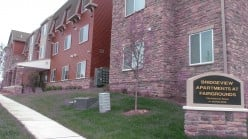 Front of Bridgeview Apartments at the  Fairgrounds for Senior Citizens.