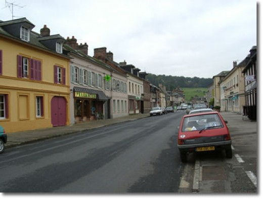View of the Village of Ry, the Original Yonville l'Abbaye