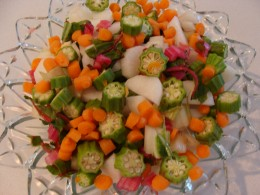 Chop vegetables and place in a bowl for the kids to put into the pot.