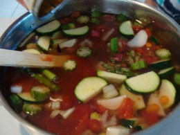 Allow the vegetables to simmer until tender.