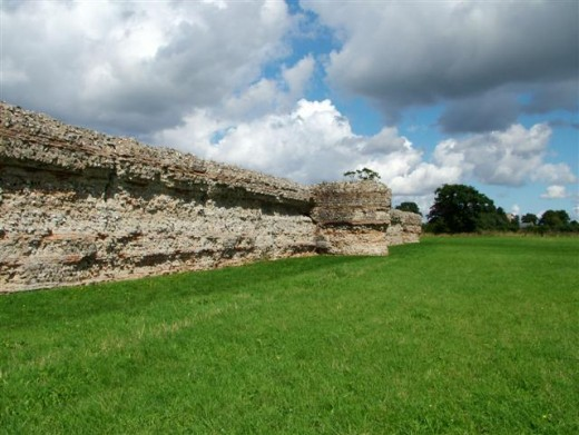 Remains of the Saxon Shore fort now known as Burgh Castle.