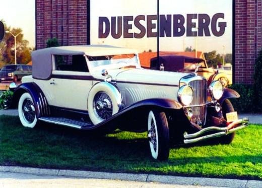 A Duesenburg was formerly owned by the Pulitzer family and fully restored. Legend has it that one of the Duesenberg's had the engine pulled to serve the war effort to operate pulleys in the war effort.