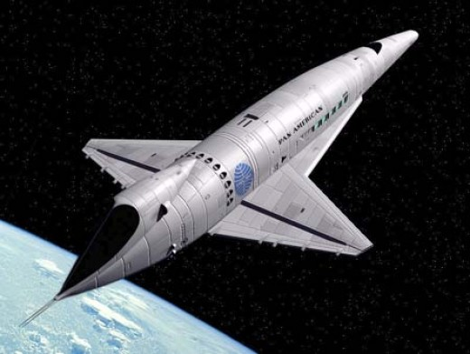 The Pan Am Space Clipper from 2001: A Space Odyssey