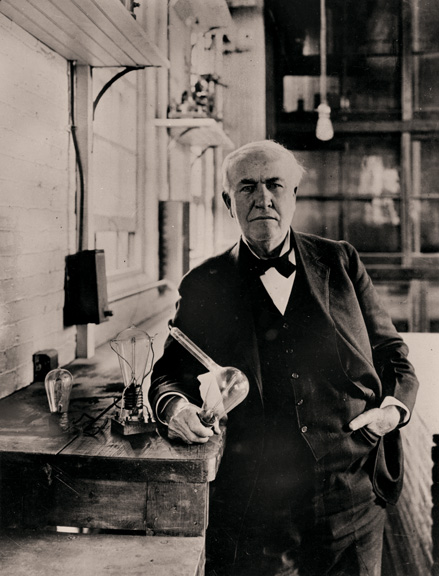 Thomas Edison was a businessman and pioneer in the electrical field and was Tesla's first boss. Edison had much more business savvy than inventive skills.