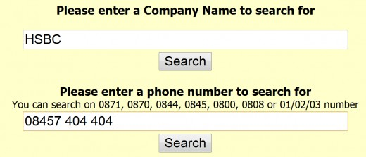 Now enter either the company name, and/or the number you wish to dial provided boxes.