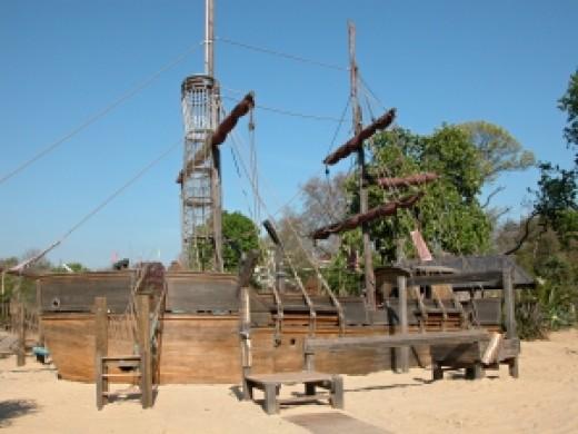 Pirate ship in Princess Diana memorial playground