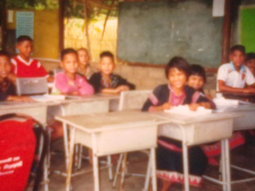 visiting a Thai school in the mountains