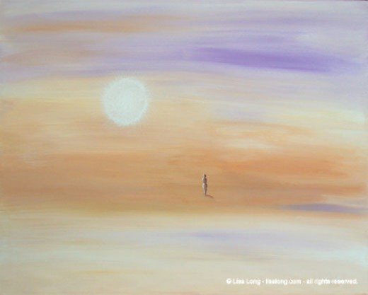 "Being Alone Without Being Lonely (""Mystic Isolation"" Painting By Lisa Long Who Retains Exclusive Copywrite Privledges"