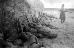 Russian soldiers resting at their post in Stalingrad 1942