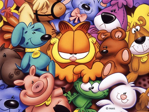 garfield wallpapers. Wallpapers of loving comic cat