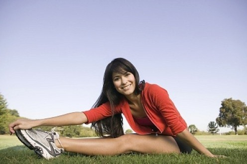 "Do exercise your ""face muscle"" while doing the stretching...yes, smile happily..."