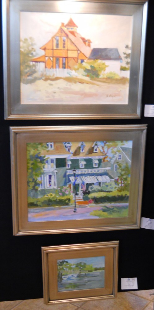 Christine Heyse's art on exhibit at Children's Beach House 5/12/12.