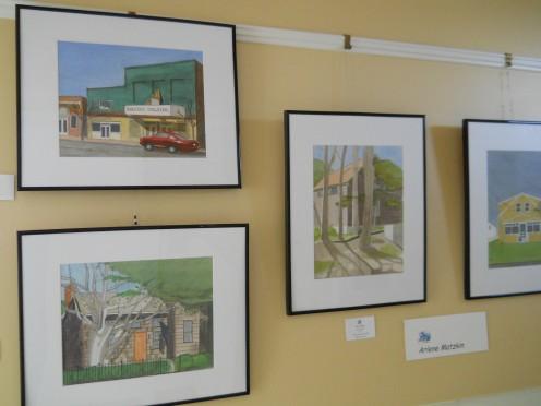 Arlene Matzkin's paintings on exhibit at The Children's Beach House 5/12/12.