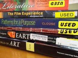 Used college textbooks offer significant savings over buying new