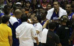 Pacquiao with Smart All-stars(NBA players)