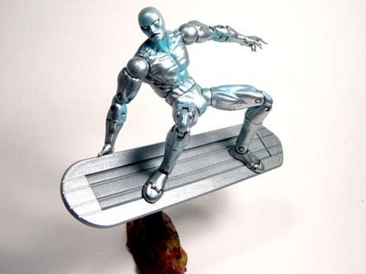 Silver Surfer series 5 w/ magnetic surfboard