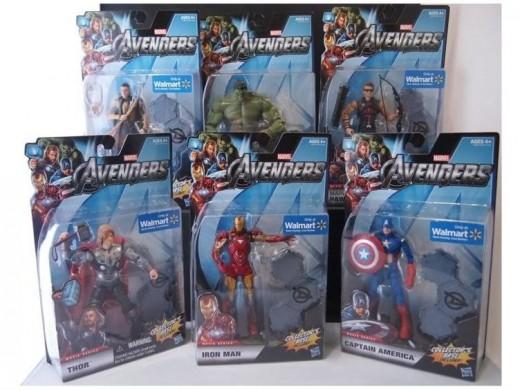 """Hasbro's 6"""" Avengers movie series 1 figures"""