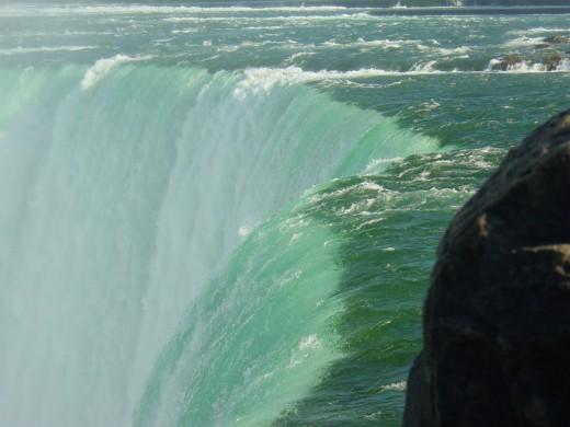 The Power of the Niagara River as it goes over the Horseshoe Falls