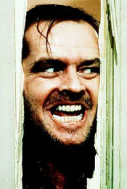 A most iconic Jack Nicholson gone mad.