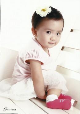Yna, a few weeks before her first birthday.