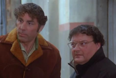Kramer and Newman deal with the underworld to circumvent the ban on powerful showerheads.