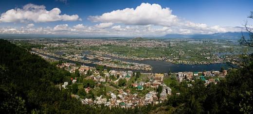 The city of Srinagar