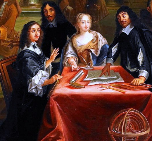 Descartes and Queen Christina of Sweden, 1650