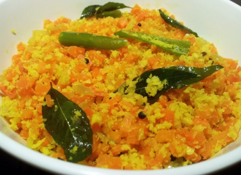 ... Quick Recipe : Carrot Thoran (Indian Style Carrot Coconut Stir Fry