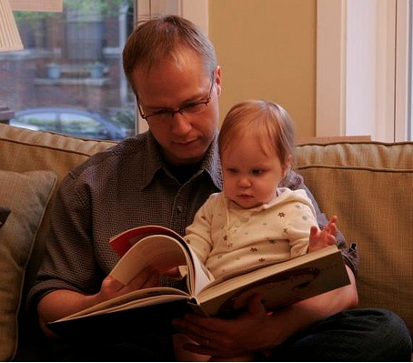 Looking at books and talking about the pictures with your baby is one of the best learn to read activities.