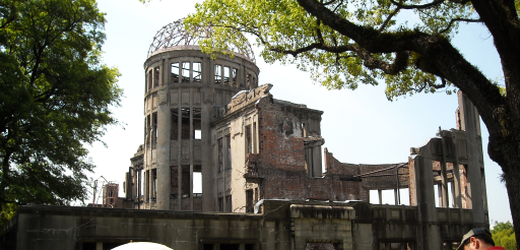 The Atomic Bomb Dome in Hiroshima's Memorial Peace Park.