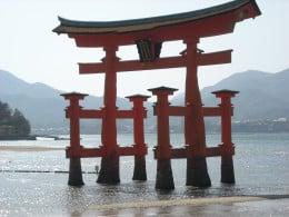 """The floating """"torii"""" of Itsukushima."""