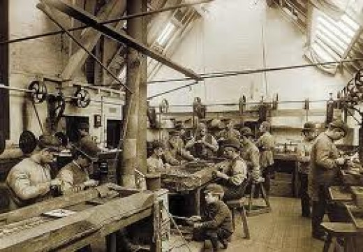 A late-19th Century Whitby jet workshop - once heart of a 'fashion industry' set off by Queen Victoria in mourning for the late Prince Albert. The trend saw their lifestyles rocket in quality