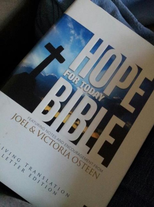 The Hope For Today Bible featuring notes and encouragement from Joel And Victoria Osteen supplemental material Copyright 2009 Joel Osteen