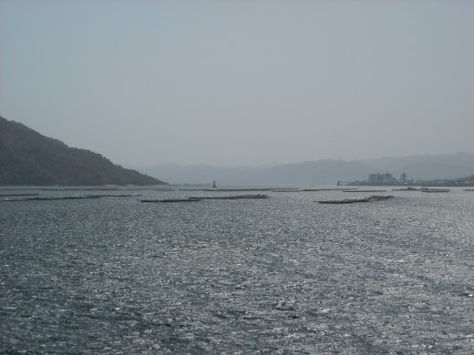 View of Inland Sea from a ferry.