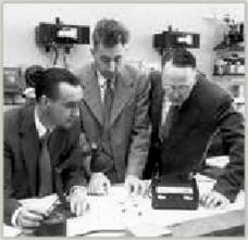 Calvin Fuller, Daryl Chapin, and Gerald Pearson at Bell Telephone Laboratories (now AT&T)
