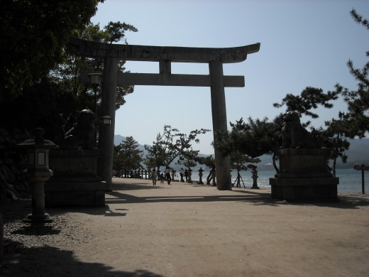 Entrance to Itsukushima Shrine.