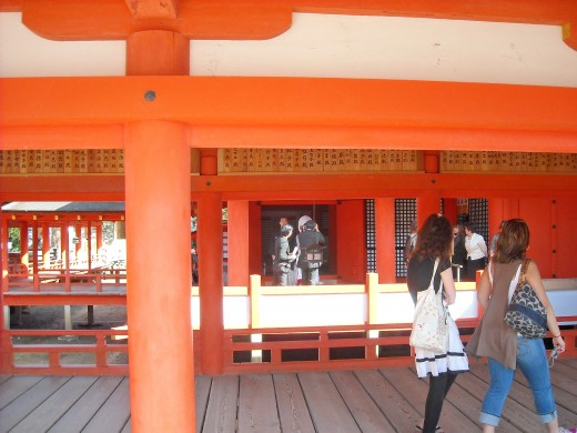 Wedding in Itsukushima Shrine.