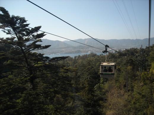 Ropeway up Mt. Misen.
