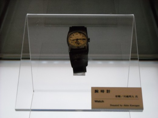 A watch inside the Peace Museum.