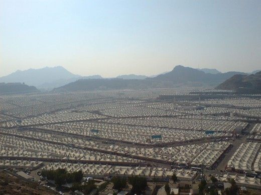 Tents in Mina for the pilgrim