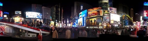 Panorama of Times Square NYC