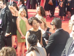 Sandra Oh red carpet interview, 60th Annual Emmy Awards, Nokia Theater, Sept. 21, 2008.