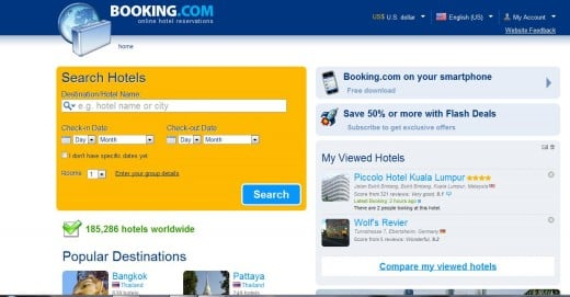 Booking.com Website