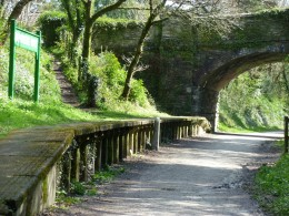 The shady halt at Dunmere ... only a short walk from the pub.