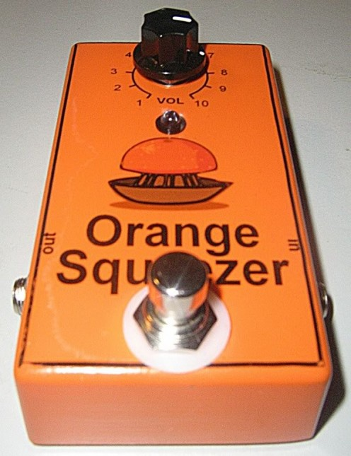 The Dan Armstrong Orange Squeezer Guitar Compressor