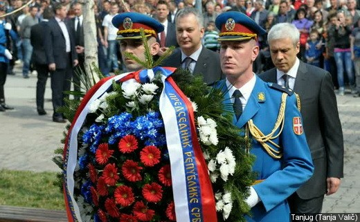 """President Tadic, with Minister of Defense on commemoration : 13 years from NATO booming. """"We have forgive, but do not forget"""""""