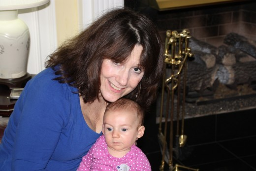 Me with my sweet granddaughter
