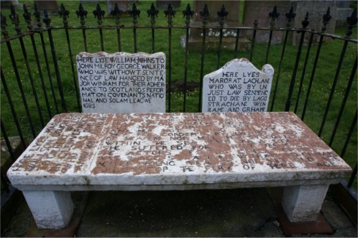 The gravestones of the 'Wigtown Martyrs' in Wigtown, Scotland