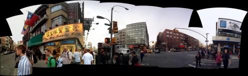 panorama of chinatown